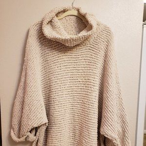 POL Knitted Open Weave Cowl Neck Sweater